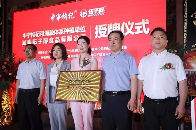 中宁枸杞溯源体系定点种植单位授牌仪式